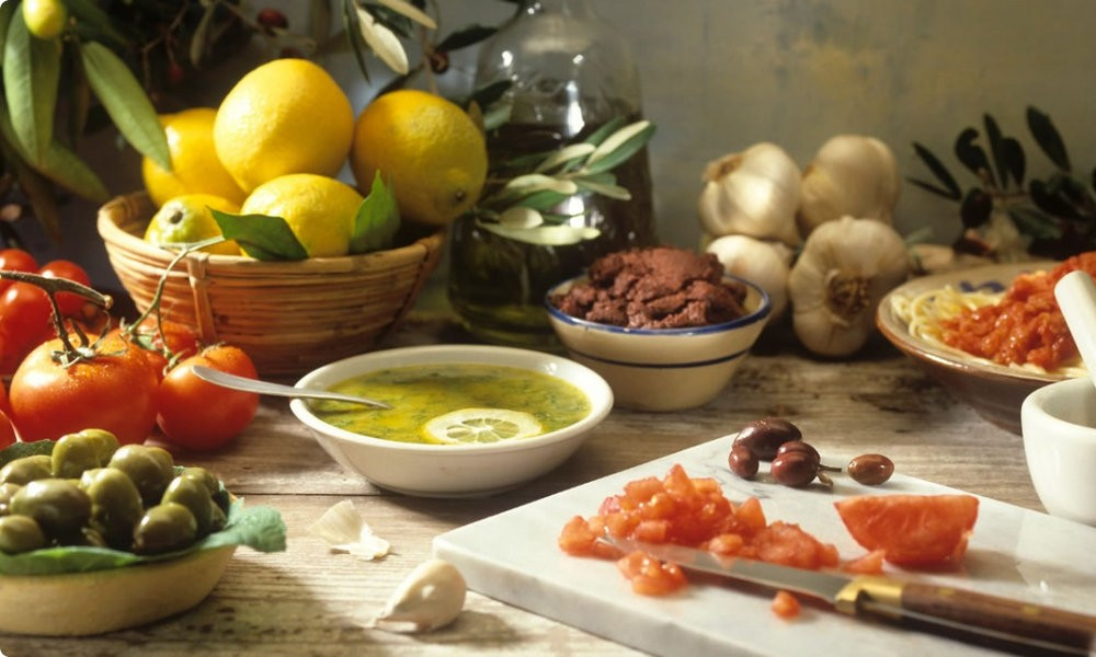 Healthy Mediterranean diet