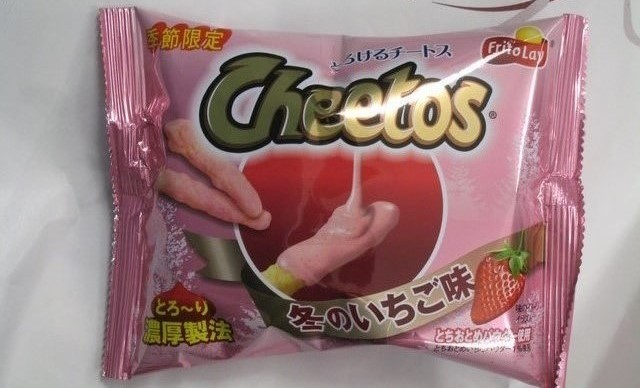 Strawberry Cheetos snack