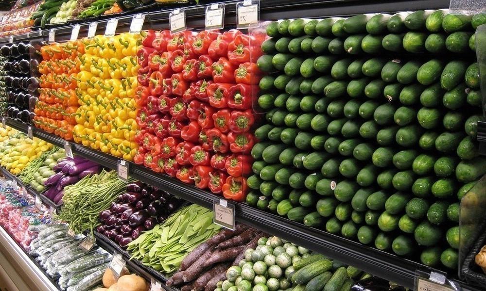 grocery store, veggie isle