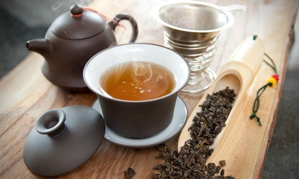 Oolong Tea, wooded board
